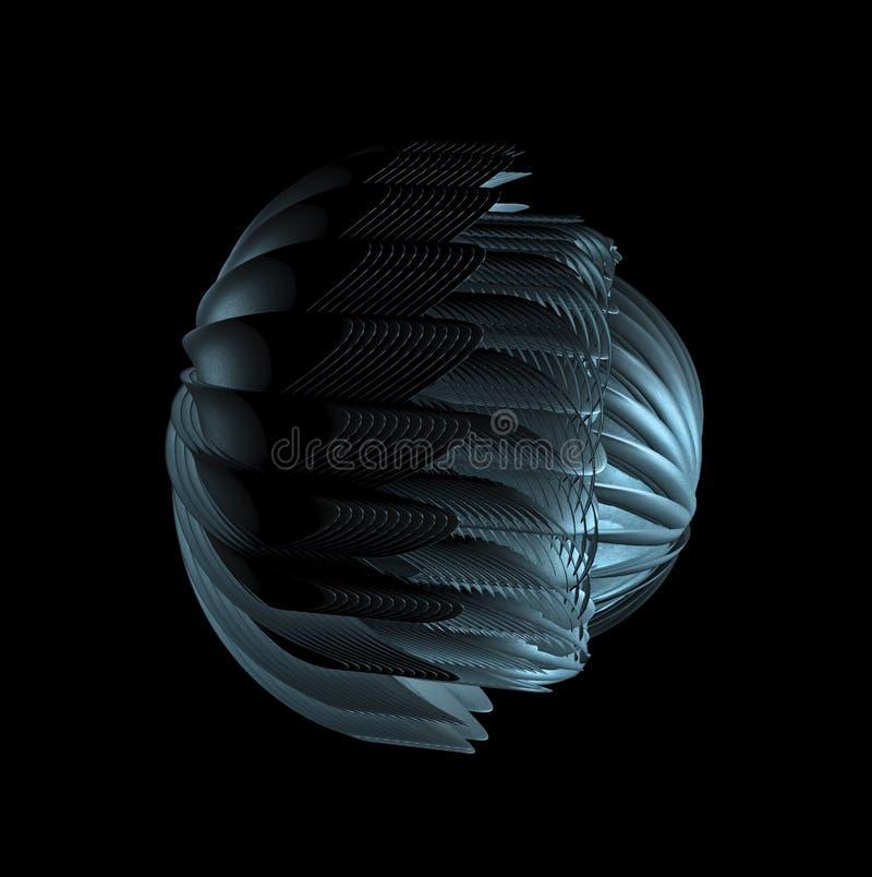 Diseño futurista abstracto, concepto para la tecnología extranjera stock de ilustración