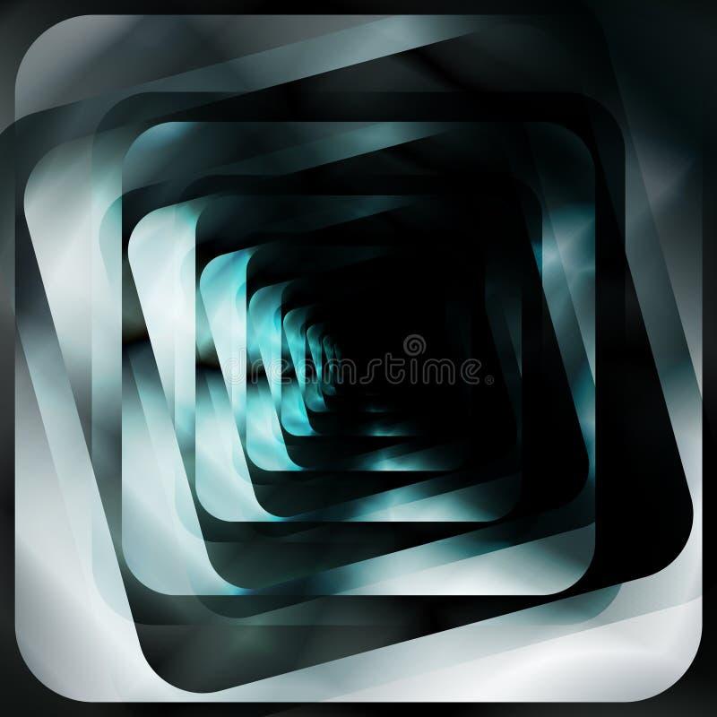 Diseño futurista abstracto del fondo de las formas libre illustration