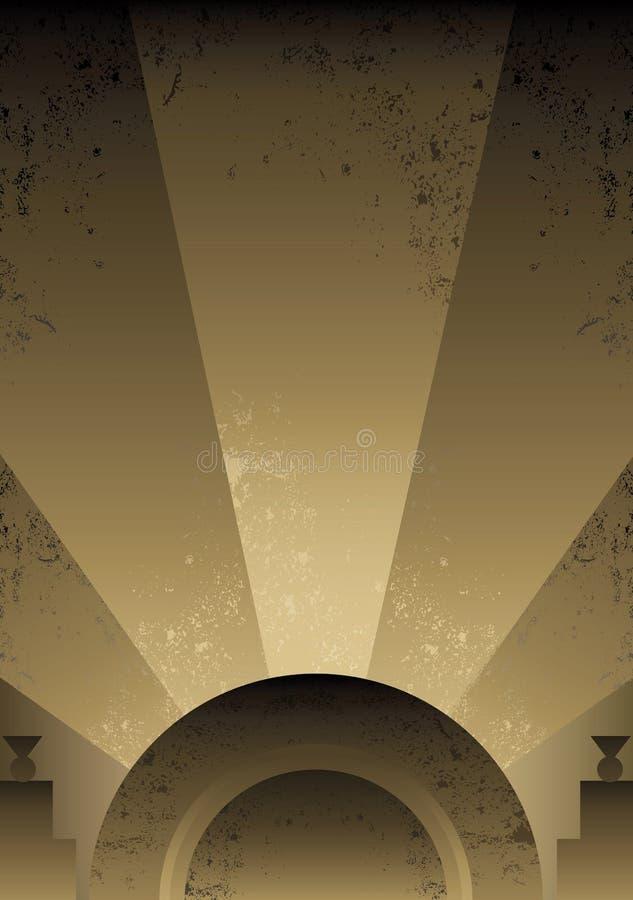Diseño futurista del fondo del estilo del art déco stock de ilustración