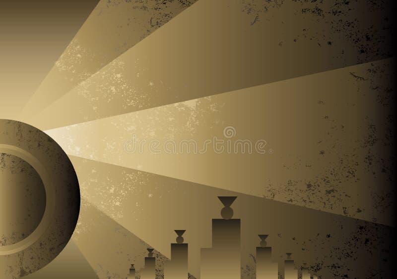 Diseño futurista del fondo del estilo del art déco ilustración del vector