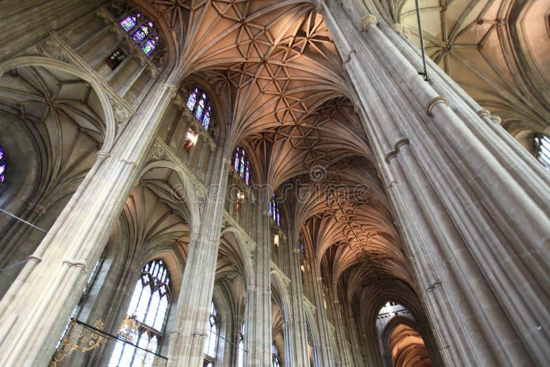 Diseño gótico de catedral de Cantorbery imagen de archivo