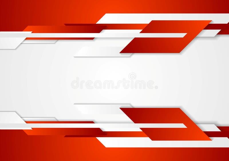Diseño geométrico de la tecnología roja libre illustration