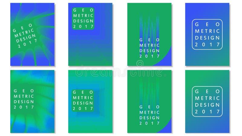 Diseño geométrico de las transiciones de los folletos de la plantilla fotografía de archivo libre de regalías