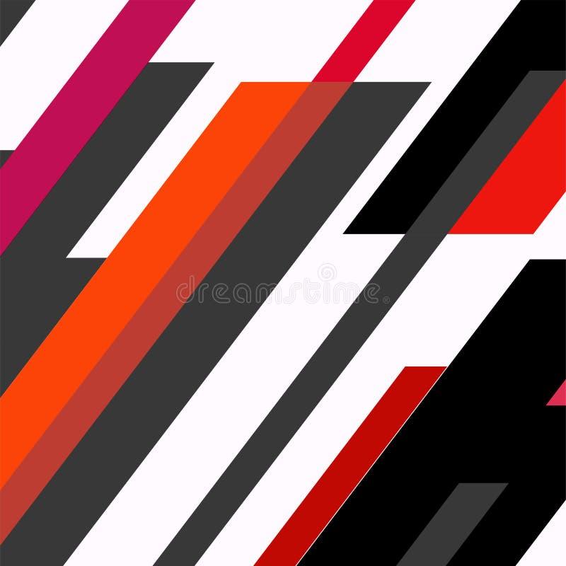 Diseño geométrico de moda de las tarjetas de felicitación de Memphis de los elementos Textura, modelo y elementos retros del esti libre illustration