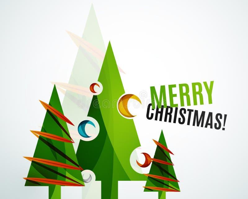 Diseño geométrico del árbol de navidad ilustración del vector