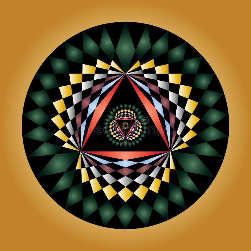 Diseño geométrico del círculo de la cosecha libre illustration