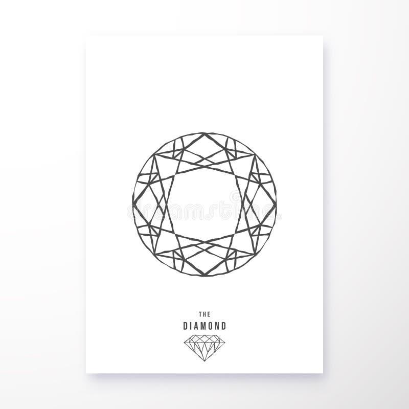 Diseño geométrico del cartel del diamante stock de ilustración