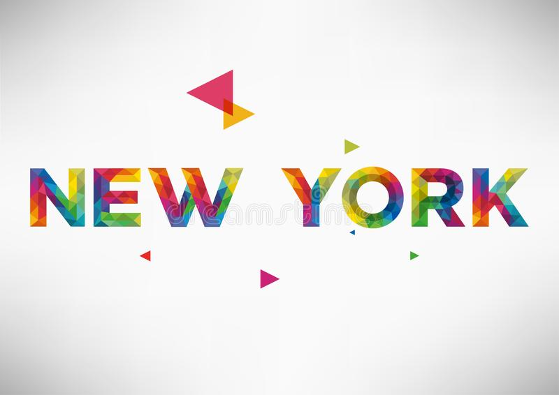 Diseño geométrico del vector de New York City stock de ilustración