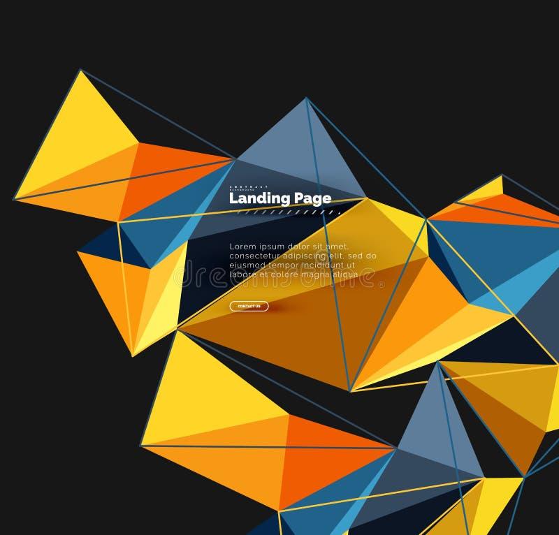 Diseño geométrico poligonal, forma abstracta hecha de triángulos, fondo de moda libre illustration