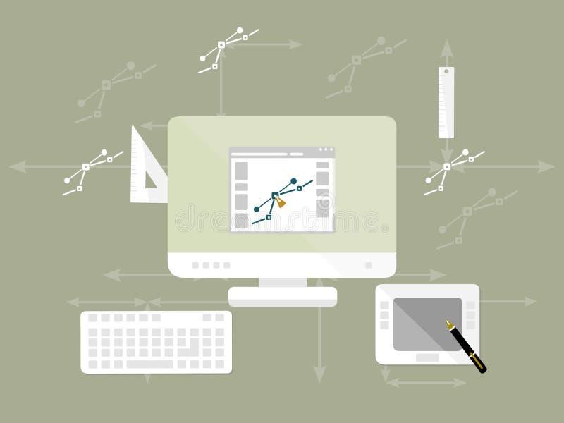 Diseño gráfico stock de ilustración