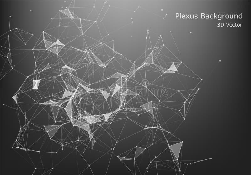 Diseño gráfico abstracto de la conexión a internet y de la tecnología fondo con las células triangulares para el diseño con los p ilustración del vector