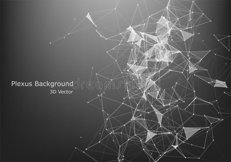 Diseño gráfico abstracto de la conexión a internet y de la tecnología fondo con las células triangulares para el diseño con los p stock de ilustración