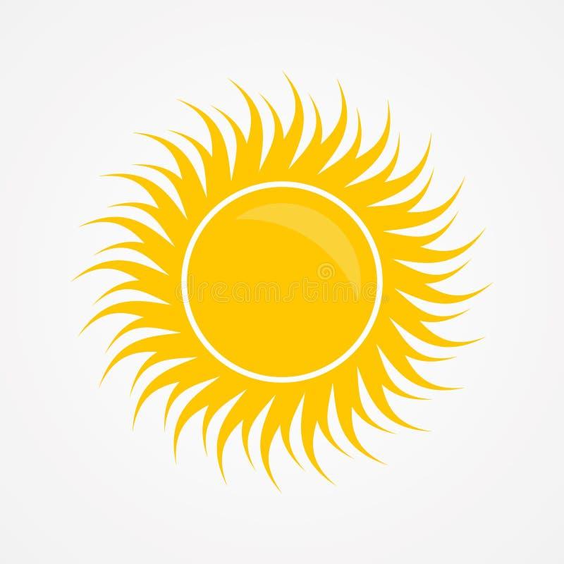 Diseño gráfico creativo, abstracto para el color del amarillo del sol en el fondo blanco libre illustration