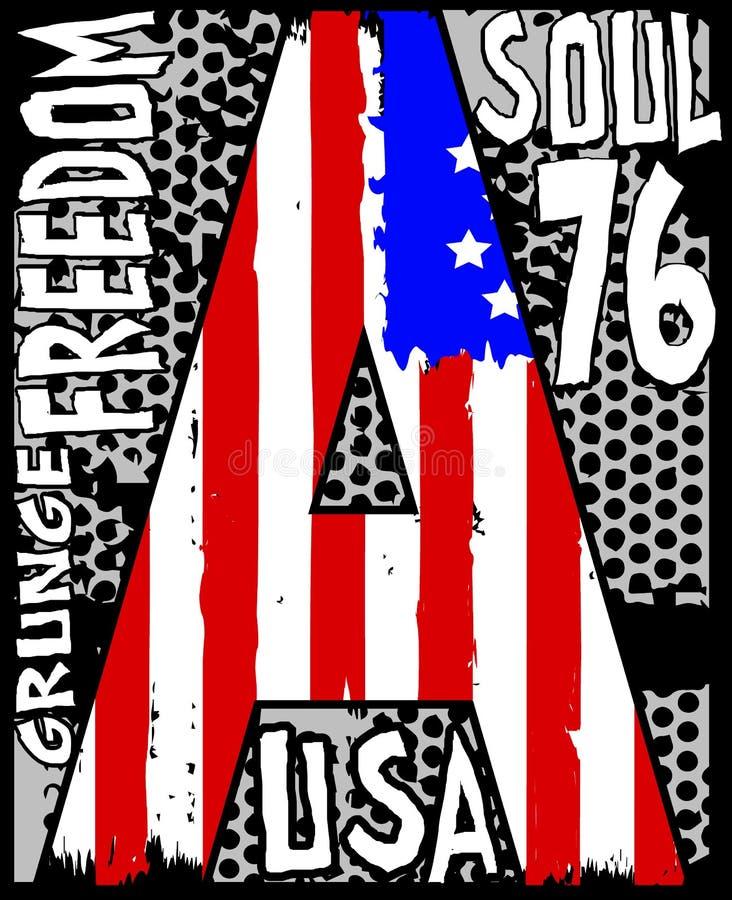 Diseño gráfico de la camiseta stock de ilustración
