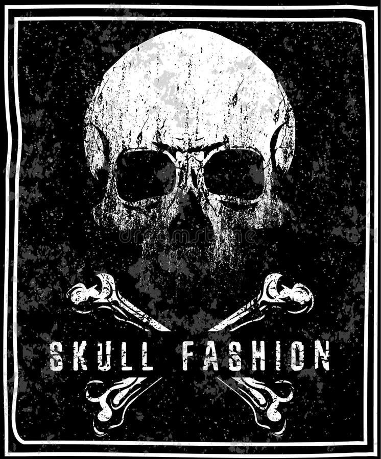 Diseño gráfico de la camiseta del cráneo libre illustration