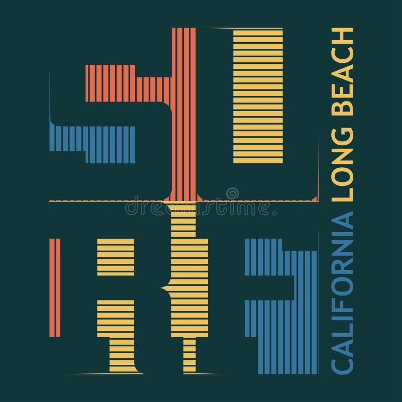 Diseño gráfico de la camiseta que practica surf libre illustration