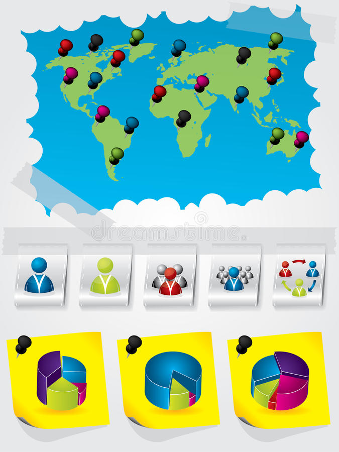 Diseño gráfico de la información stock de ilustración