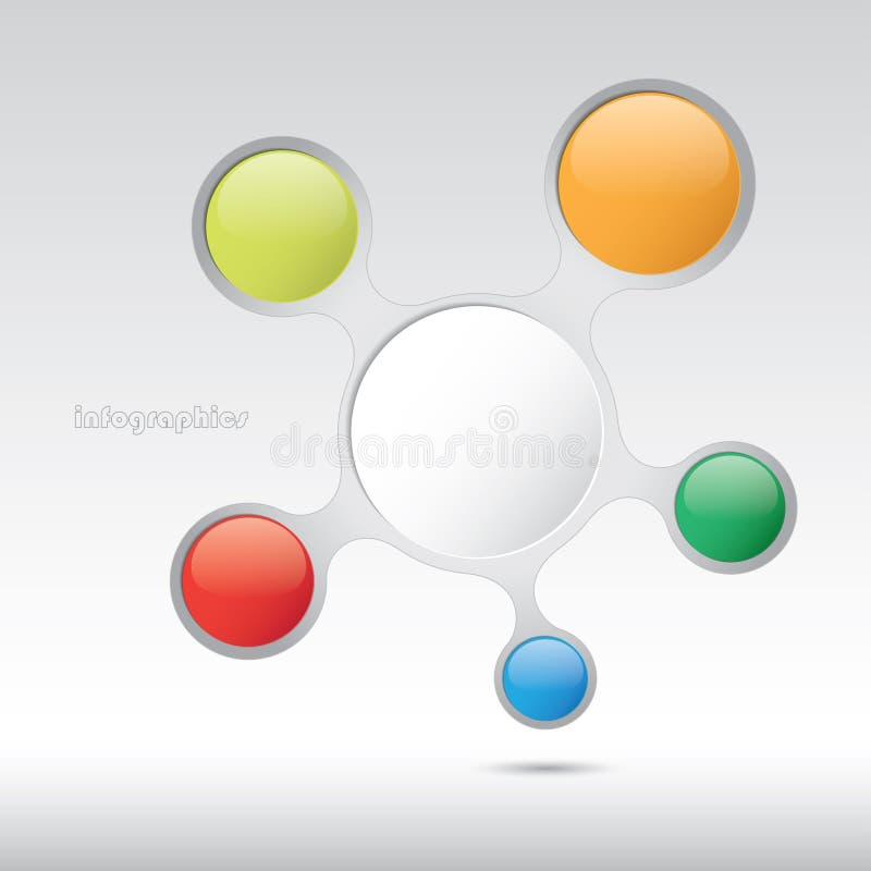 Diseño gráfico de la información en estilo de la burbuja. Fichero Eps10 libre illustration