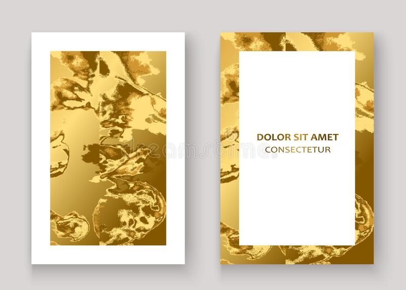 Diseño gráfico de la textura del oro del fondo de mármol del extracto Vector de moda de la plantilla del brillo del modelo de luj ilustración del vector
