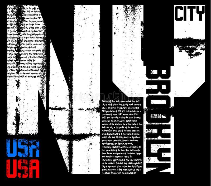 Diseño gráfico de la tipografía de Newyork ilustración del vector