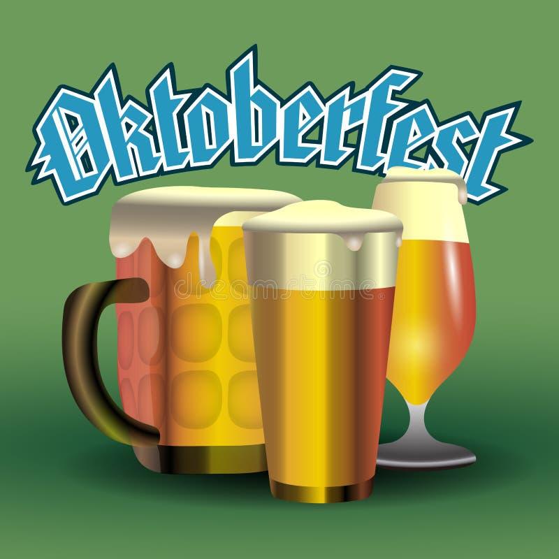 Diseño gráfico de Oktoberfest libre illustration