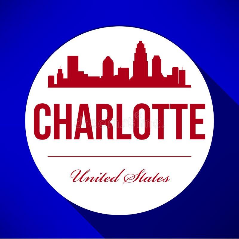 Diseño gráfico de vector de Charlotte City Skyline libre illustration