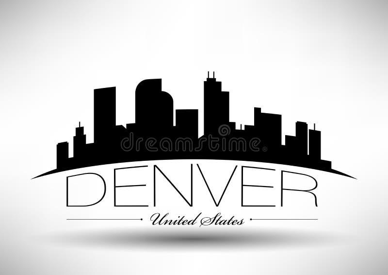 Diseño gráfico de vector de Denver City Skyline ilustración del vector