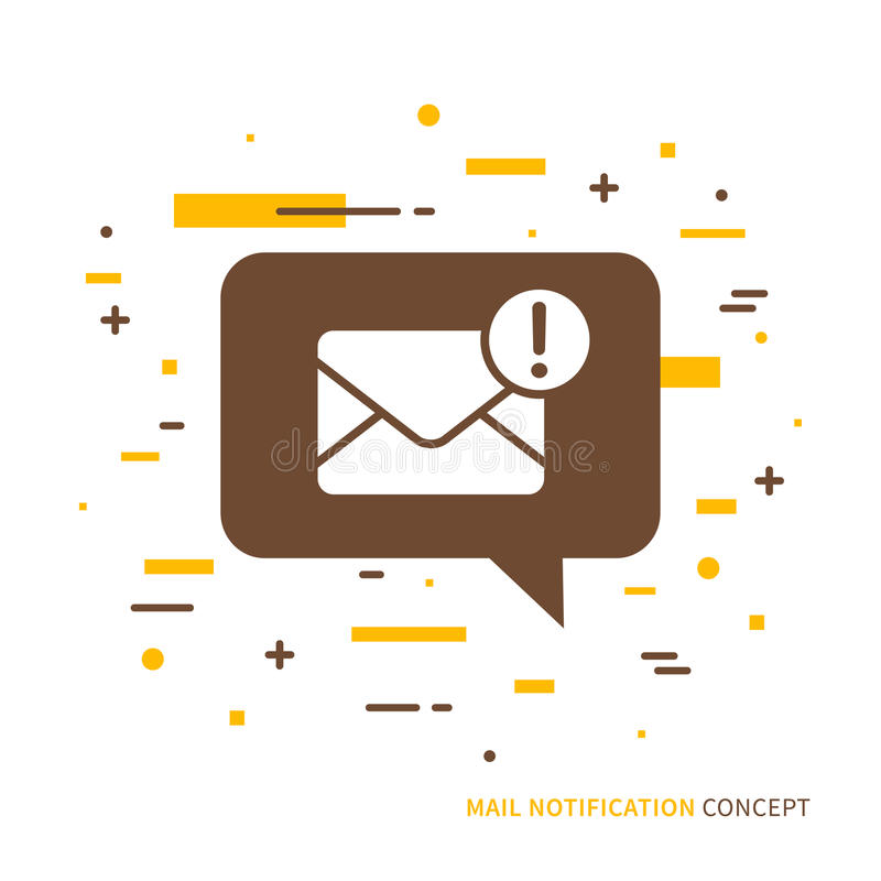 Diseño gráfico del concepto del correo creativo del teléfono libre illustration