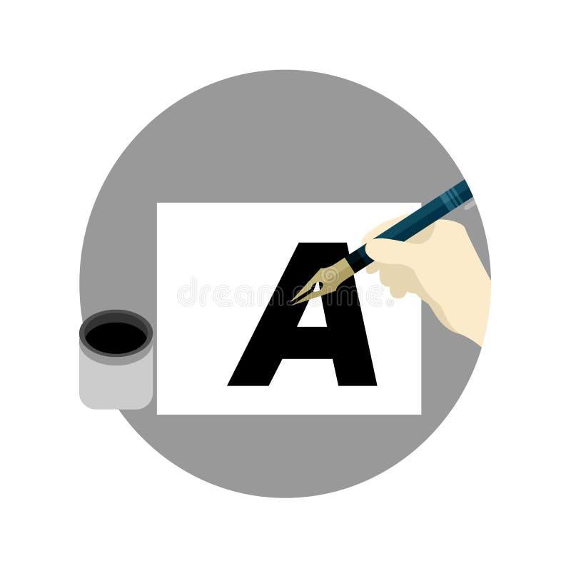 Diseño gráfico del ejemplo de la historieta de la escuela del cepillo de Fontography libre illustration