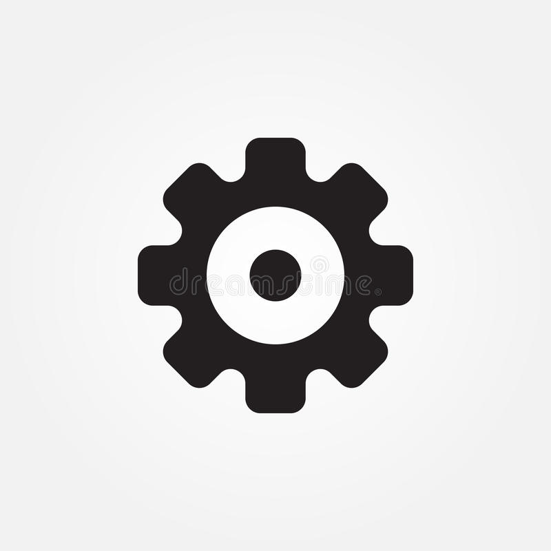 Diseño gráfico del ejemplo del icono del vector de los engranajes stock de ilustración