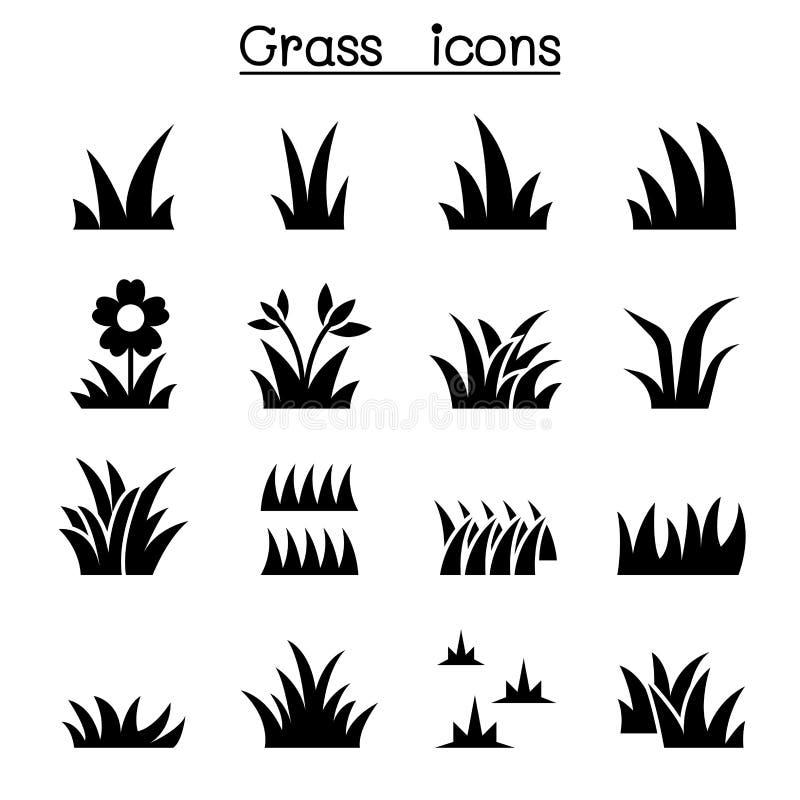 Diseño gráfico del ejemplo determinado del icono de la hierba libre illustration