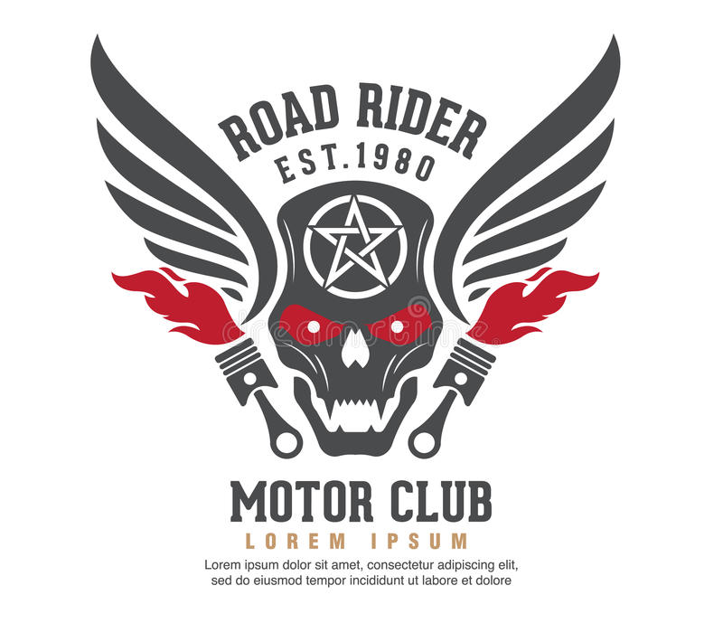Diseño gráfico del logotipo del motor logotipo, etiqueta engomada, etiqueta, brazo ilustración del vector