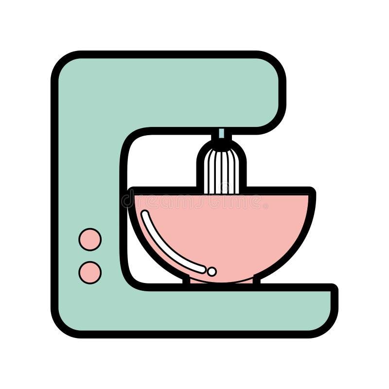 Diseño gráfico del mezclador lindo de la cocina libre illustration