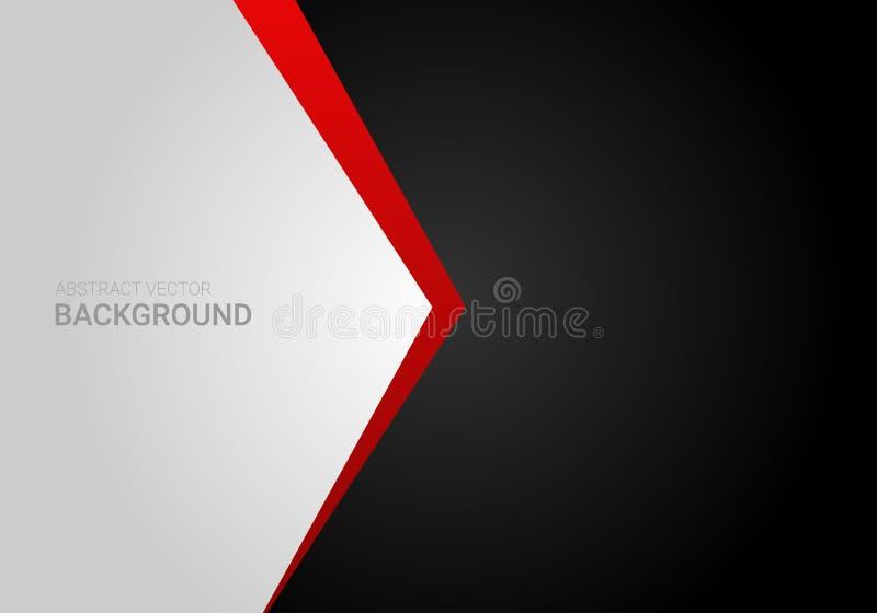 Diseño gráfico del vector del contraste del fondo gris negro rojo abstracto corporativo de la pendiente ilustración del vector
