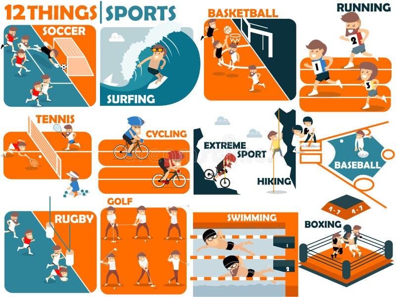 Diseño gráfico hermoso de deportes libre illustration
