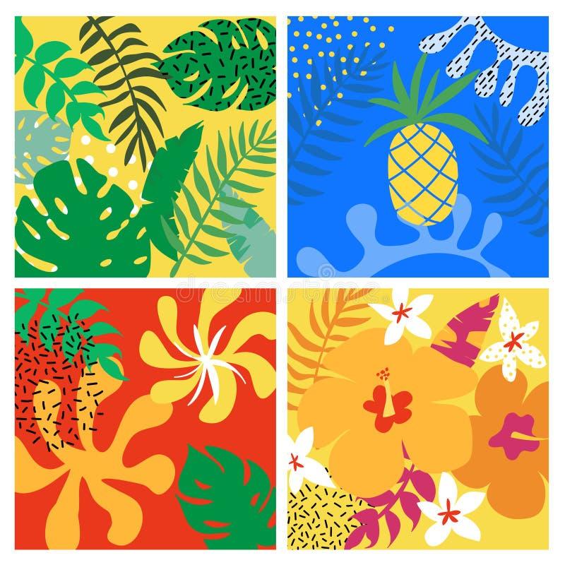 Diseño gráfico tropical Fondo exótico libre illustration