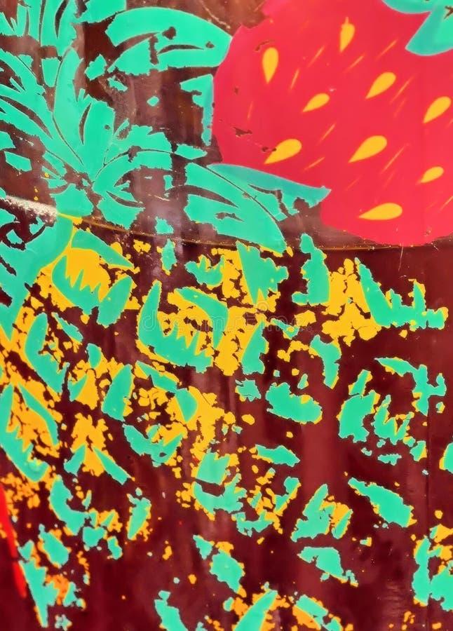 Diseño grabado al agua fuerte de co.orful fotografía de archivo libre de regalías