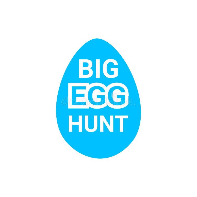 Diseño grande de la bandera de la decoración de la tarjeta de felicitación de Hunt Icon Easter Holiday Icon del huevo libre illustration