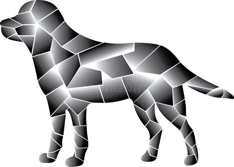 Diseño gris del perro Diversos elementos ilustración del vector