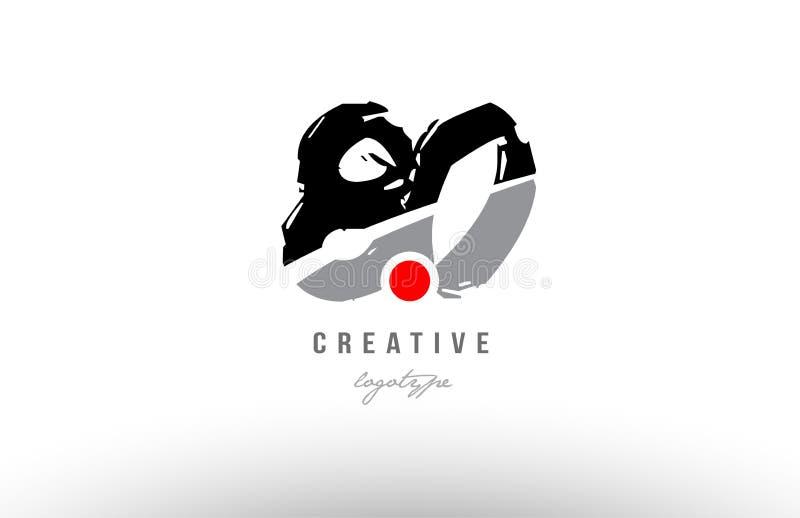 diseño gris negro del icono del logotipo del número del grunge 80 libre illustration