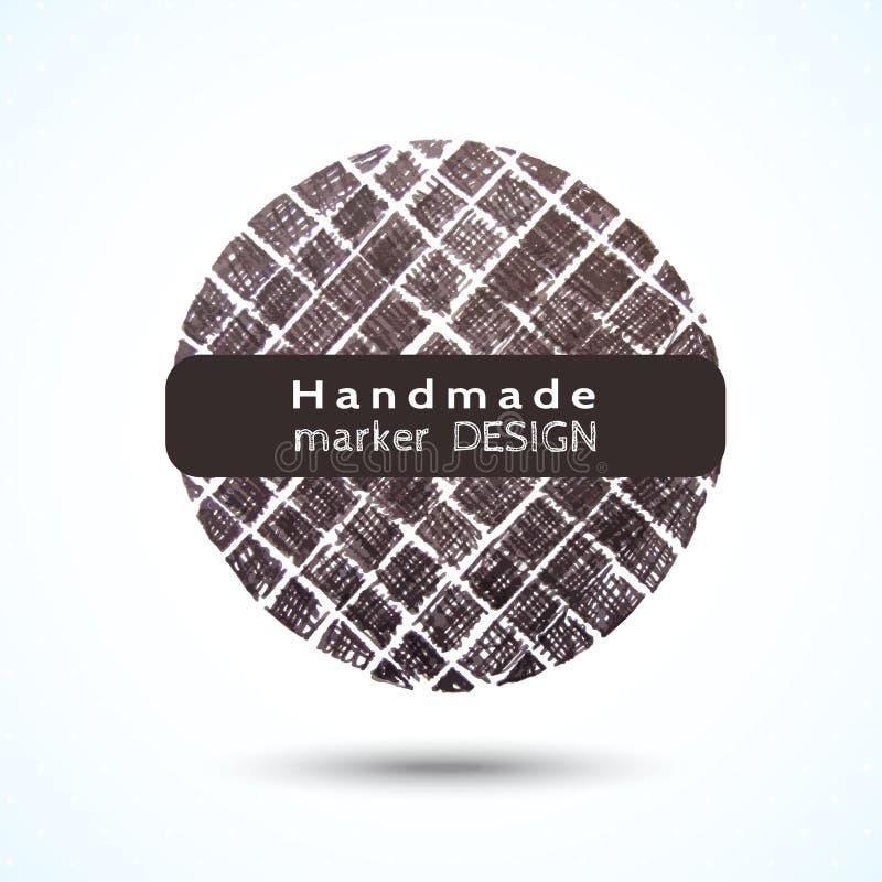 Diseño hecho a mano redondo negro de la célula del marcador libre illustration