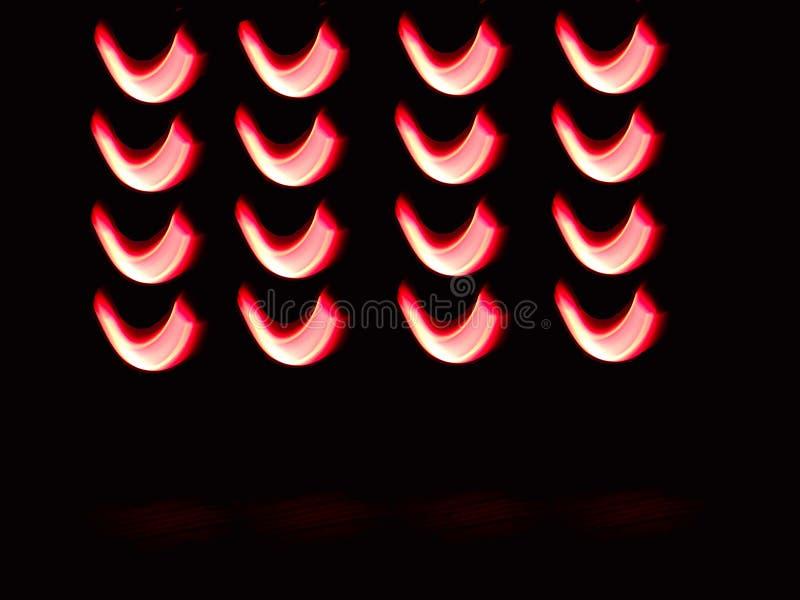 Diseño hermoso creado con luces Textura de forma U creada con luces fotografía de archivo