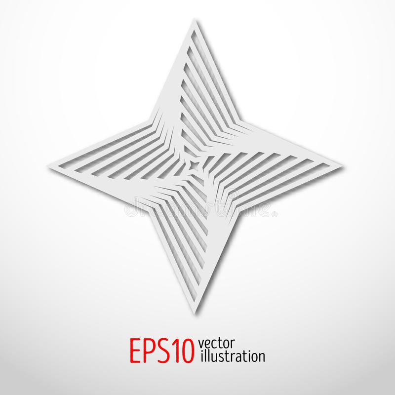 Diseño hexagonal del papel 3d de la estrella Forma sacra del misterio de la geometría Diseño del arte abstracto libre illustration