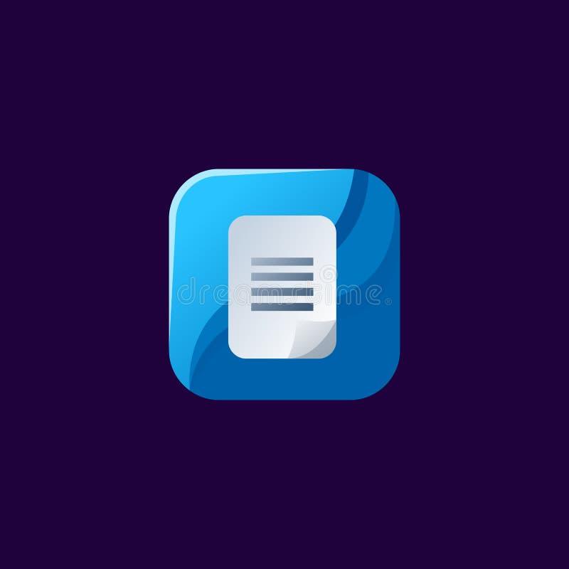 Diseño impresionante del icono de la lista listo para utilizar stock de ilustración