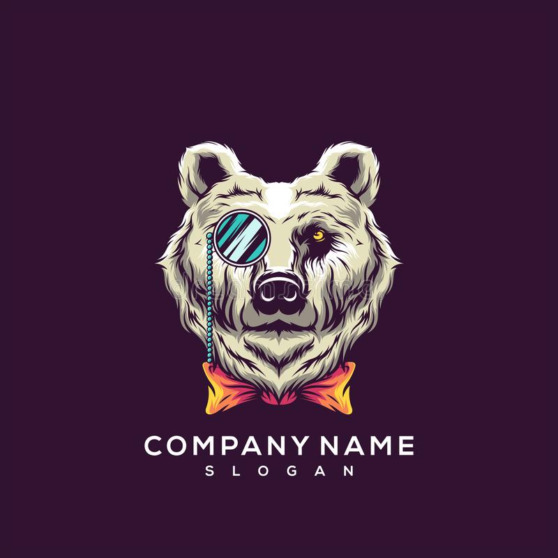 Diseño impresionante del logotipo del oso libre illustration