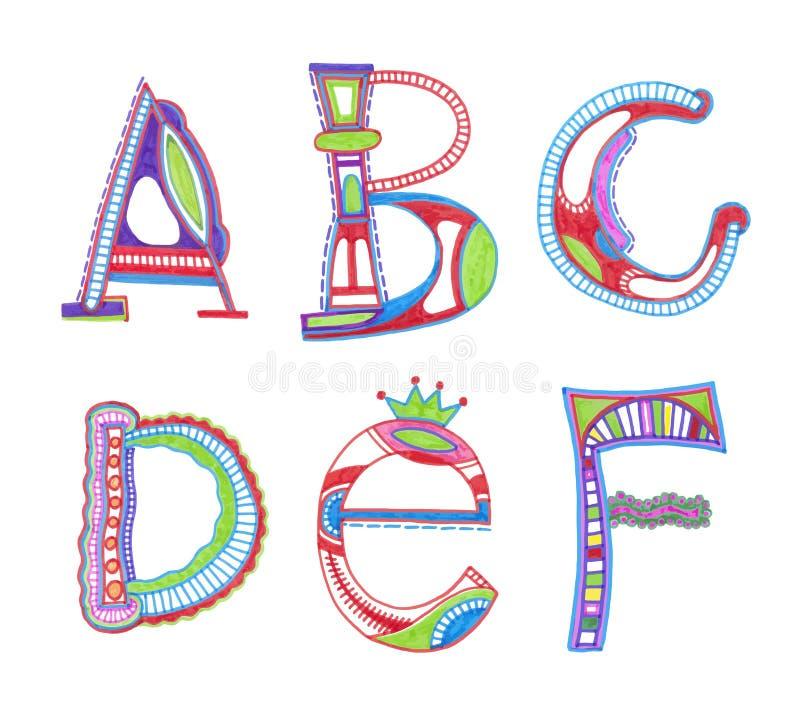 Diseño incompleto del alfabeto libre illustration