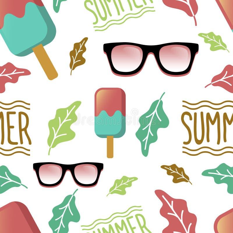 Diseño inconsútil de la impresión del modelo del verano stock de ilustración