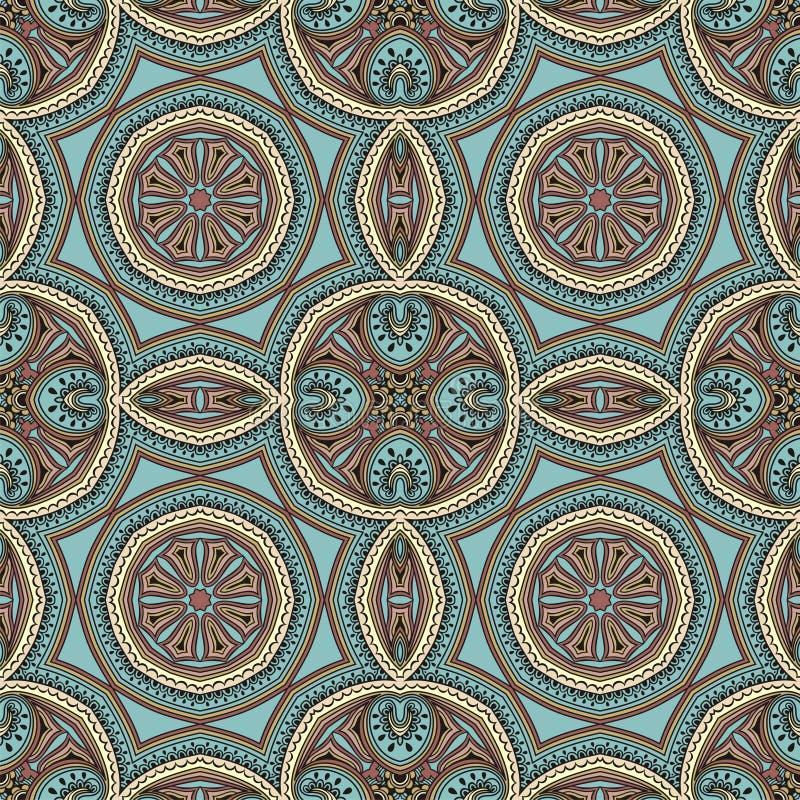 Diseño inconsútil de Paisley, modelo tribal étnico, tela stock de ilustración