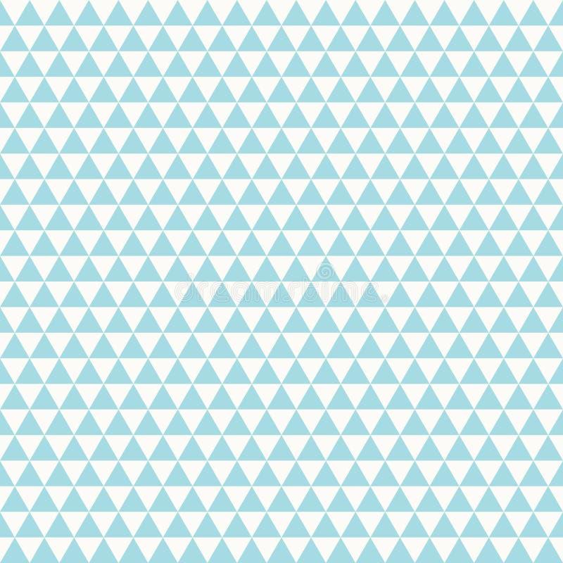 Diseño inconsútil del cielo azul del modelo abstracto del triángulo en el vector blanco del fondo Vector eps10 del ejemplo libre illustration
