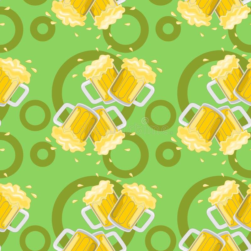 diseño inconsútil del fondo de la cerveza fotografía de archivo